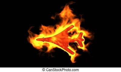 burning fighter sign