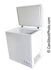 Freezer on plain background