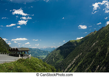 Kaprun area and Alps in Austria