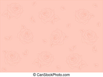 seamless background with roses - seamless background with...