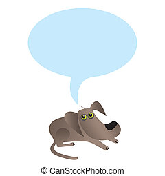 Little dog with speech bubble - Funny dog. Place for your...