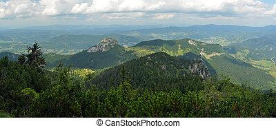 Mala Fatra panorama - panorama photo of Mala Fatra mountain...