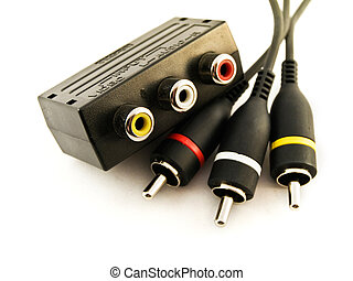 Audio Visual Leads and Connector - Three Audio Visual Leads...