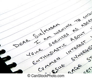 Dear Sir Handwritten Writing a Letter on Notepad - Dear Sir...