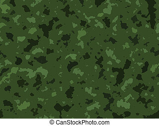 Green Jungle Army Camouflage Texture