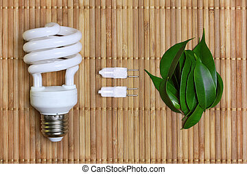 eco energy concept with light bulb