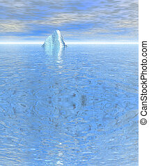 Top of Iceberg Floating in the Ocean