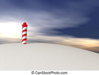 nord, poteau, spirale, modèle, glace