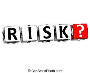 3D Risk Block Text  on white