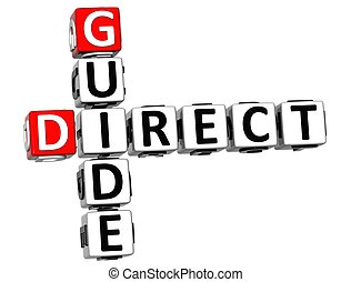 3D Direct Guide Crossword text