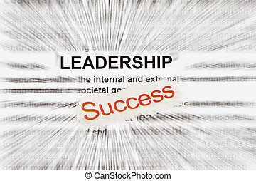 Success and leadership