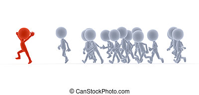 Toon people running, competition concepts - Toon people...