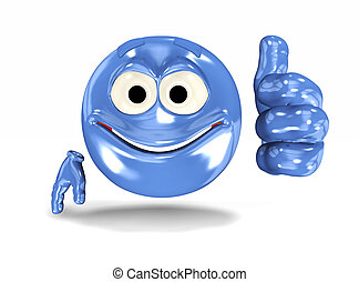 Smiley face showing ok sign