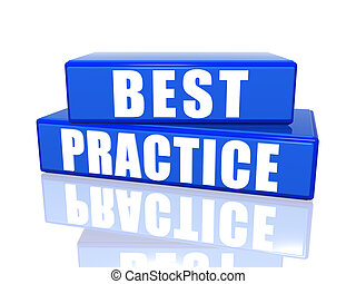 Best practice 3d white over blue boxes