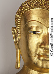 buddha half body in banyan root and tri color