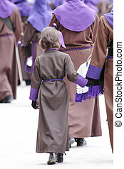 Holy Week in April 2012 zaragoza - religious objects of Holy...