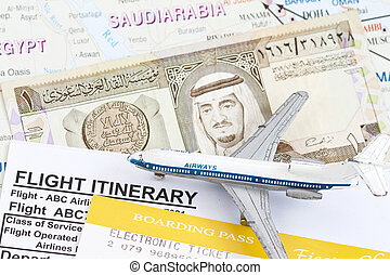 Trip to Saudi Arabia - King Fahd on 1 Riyal Banknote in a...