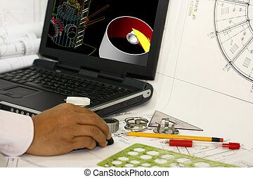 diseño, 3D, vasija