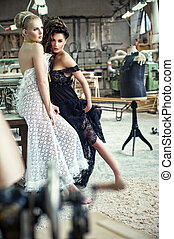 Two stunning ladies in a romantic p