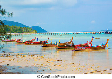 Calm blue ocean at phuket island thailand