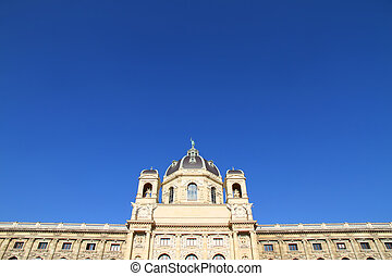 The Museum of Natural History in Vienna. View from the...