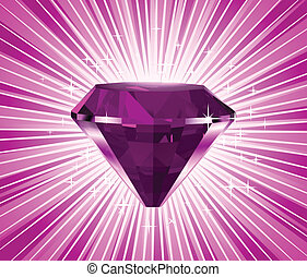 Vector pink diamond illustration
