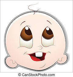 Cute Baby Face - Creative Design of Cute Baby Face Vector...