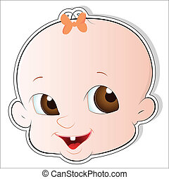 Cute Baby Face Vector - Cute Design Art of Cute Baby Face...