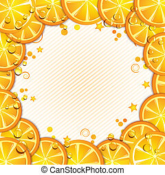Orange slice - Background with orange slice