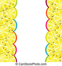 Lemon slices - Background with lemon slices