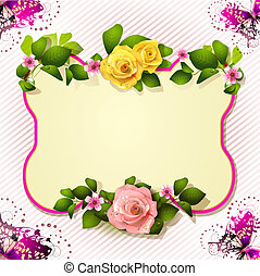 Mirror with roses