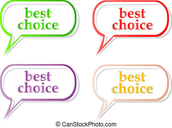 Vector best choice label stickers set