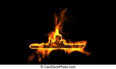 burning chaser and fire ship symbol.