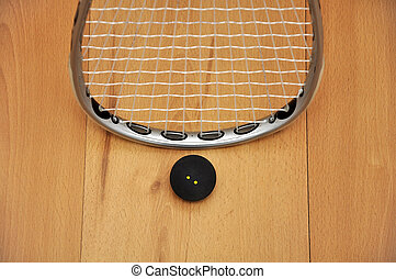 calabaza, raqueta, Pelota