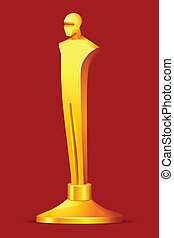 Gold Award - illustration of gold award in shape of male...