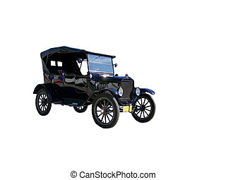 Old Crank Model Car - An old vehicle in excellent shape