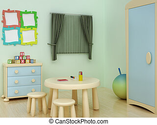 children room - children playroom