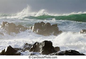 ocean storm 2 - big ocean storm ( Commander Islands )