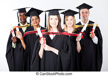 group of international graduates
