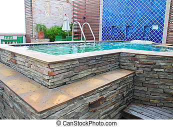 luxurious outdoor jacuzzi  - luxurious outdoor jacuzzi