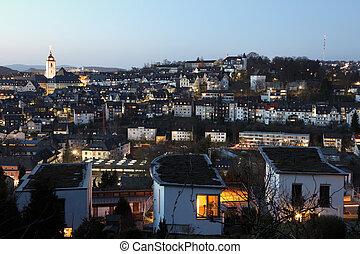 miasto, Niemcy,  rhine-westphalia, Północ,  siegen