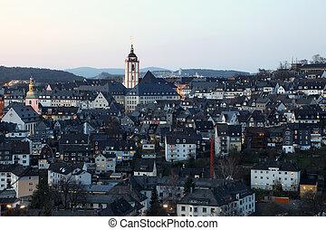 miasto, Siegen, Północ, Rhine-Westphalia, Niemcy
