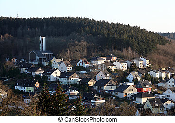 Town Siegen in North Rhine-Westphalia, Germany
