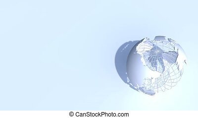 White Globe Title Frame Loop HD - Three dimensional...