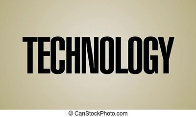 Bumping Technology Words HD - A looping, vertical carousel...