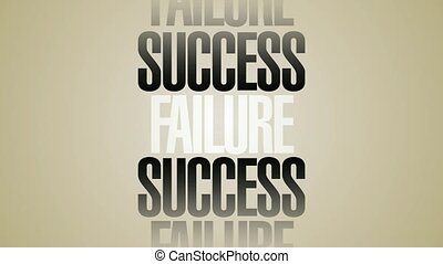 Success Failure Words Spin HD