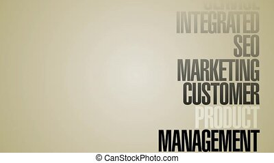 Carousel Of Marketing Words HD - A looping, vertical...