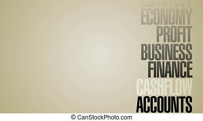 Carousel Of Business Words HD