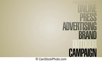 Carousel Of Advertising Words HD
