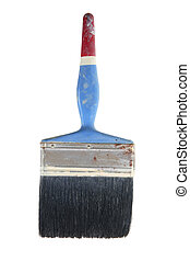 Old Paint Brush on White Background